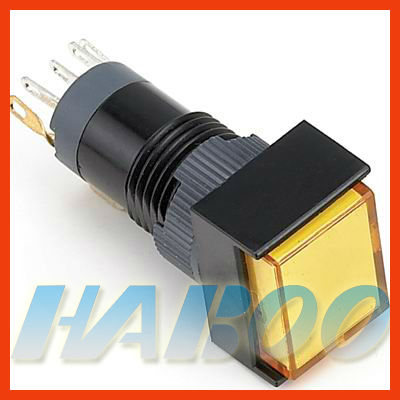 HABOO dia.12mm led lighted illuminated on off small push button 1NO+1NC
