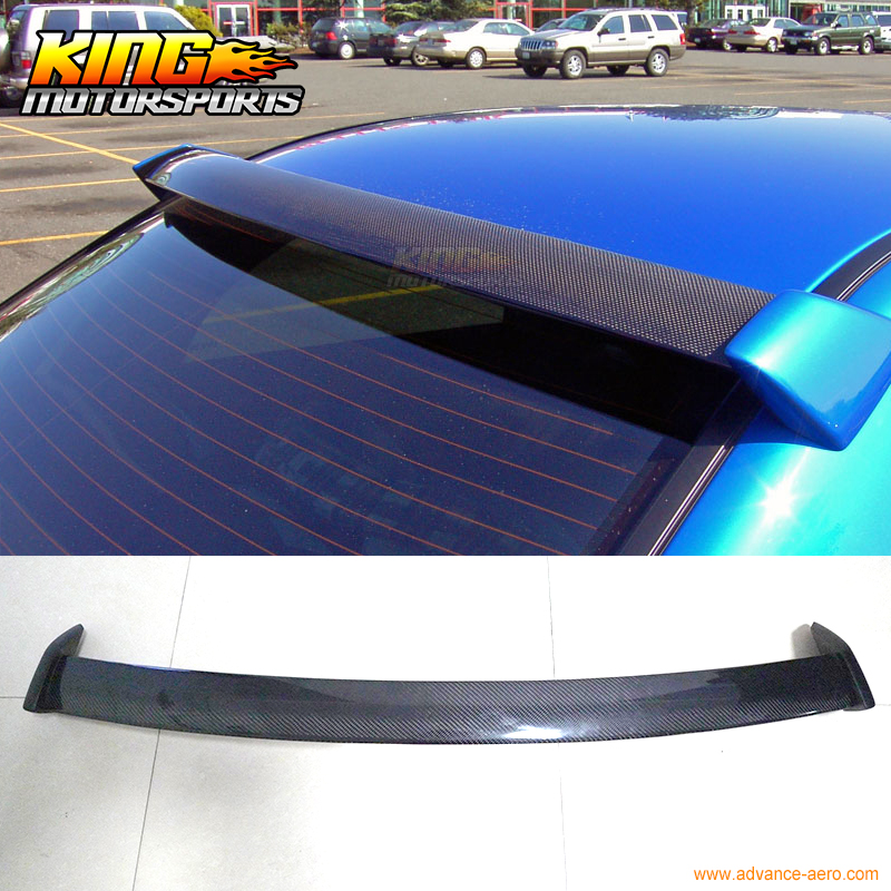 For 02-07 Subaru Impreza WRX STI Rear Roof Spoiler Wings Carbon Fiber FRP Sides epman intercooler y pipe hose kit for subaru wrx sti gdb ggb 2 0 00 07 ver 7 9 3pcs ep sbt007