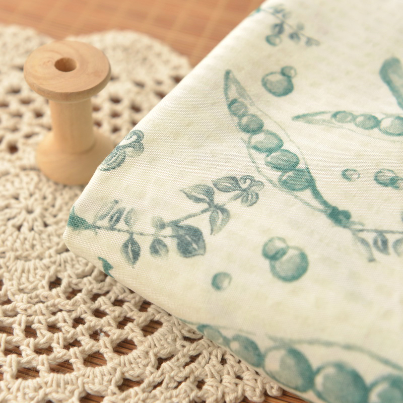 Pea pods white at the end of the printing bubble pure cotton cloth summer clothing skirt bed sheets quilt baby <font><b>skin</b></font> care fabric
