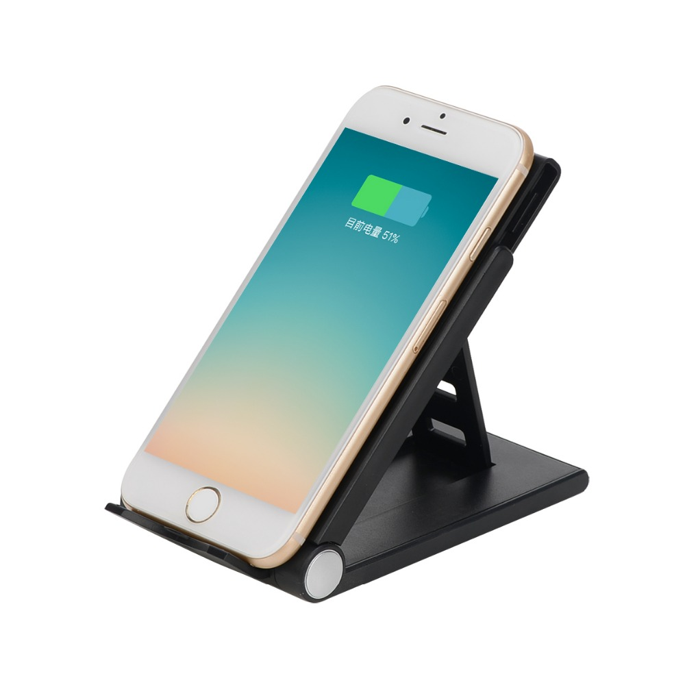 qi standard adjustable wireless charging pad folding charger stand for samsung galaxy s6 edge. Black Bedroom Furniture Sets. Home Design Ideas