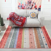 Morocco Nordic Flannel Cotton Carpet Tassels Bedroom Rug Bedspread Mat Simple Modern Table Ruuners kitchen Mat Home Decoration