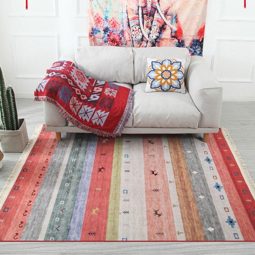 Maroc nordique flanelle coton tapis glands chambre tapis couvre-lit tapis Simple moderne Table Ruuners cuisine tapis décoration de la maison