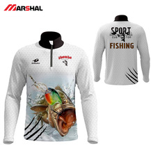 Professional Design Your Own Fishing Shirts Long Sleeve Outdoor Clothes Performance Tournament Full Sublimation Outfits