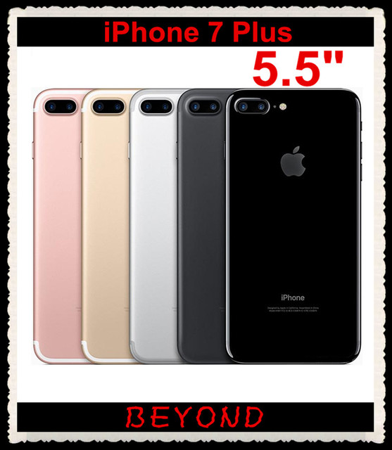 """Оригинальный Apple iPhone 7 Plus Factory Unlocked Мобильный Телефон 4 Г LTE 5.5 """"Quad Core A10 Dual 12MP RAM 3 ГБ ROM 32 ГБ/128 ГБ/256 ГБ"""