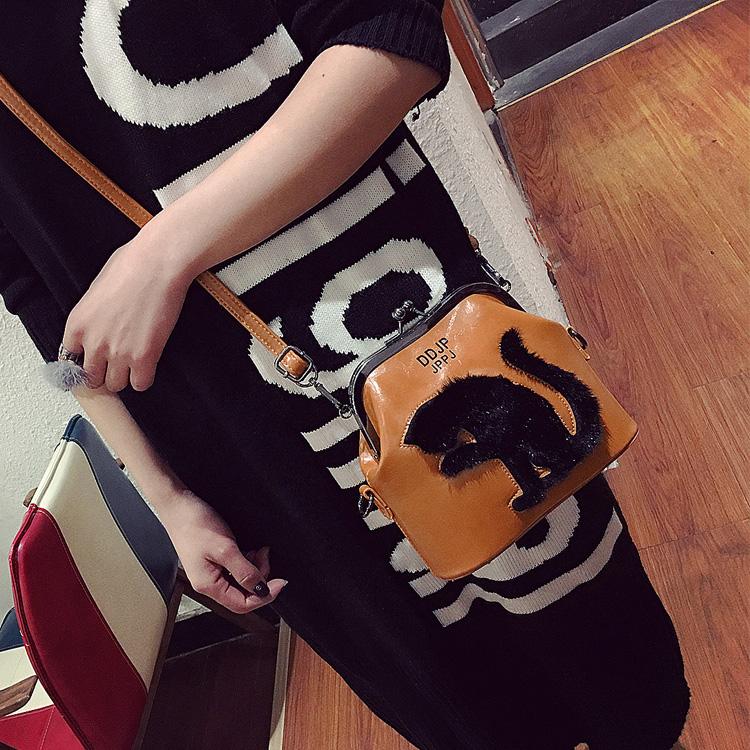 2017 Women Party Bags Cat Bag Ladies Cross Body Bag Women Bags Shoulder & Handbags Messenger Bags Female Leather Shoulder Bags (59)