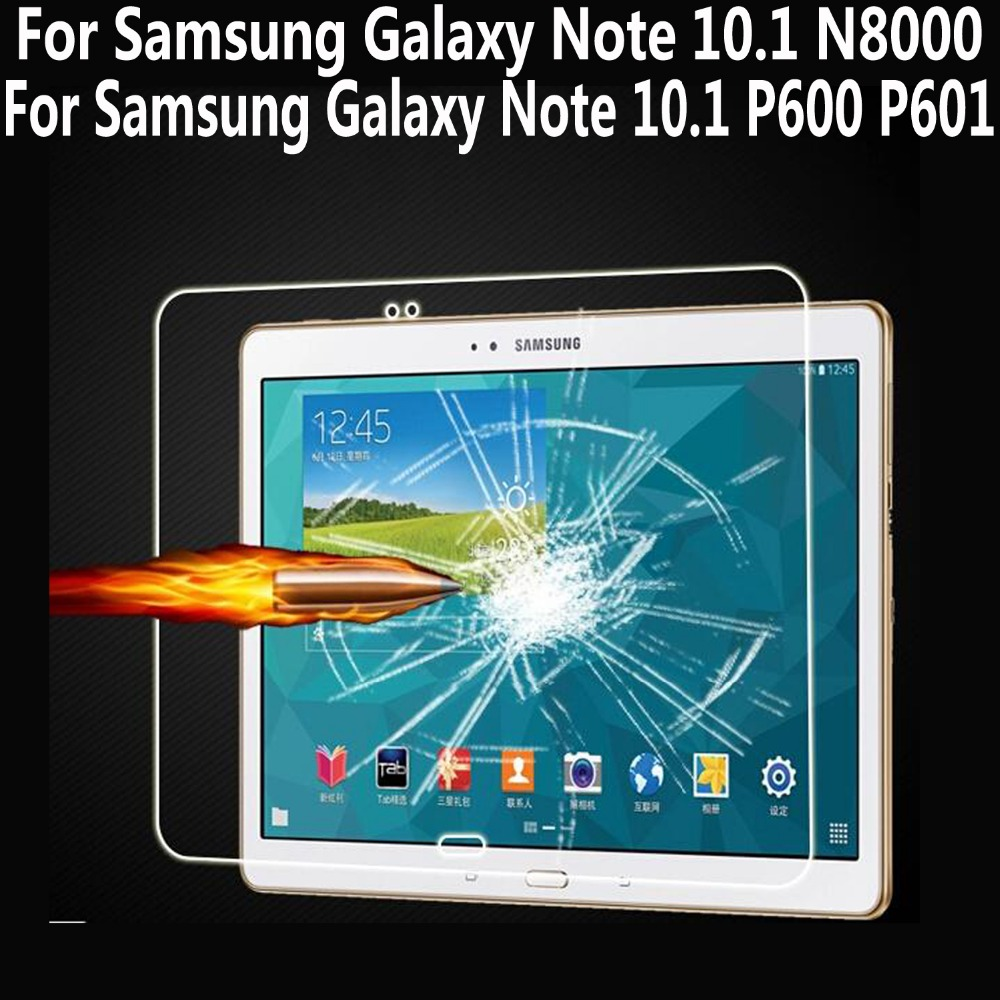 Tempered Glass For Samsung Galaxy Note 10.1 N8000 Screen Protector For Samsung Galaxy Note 10.1 2014 Edition P600 P601 P605