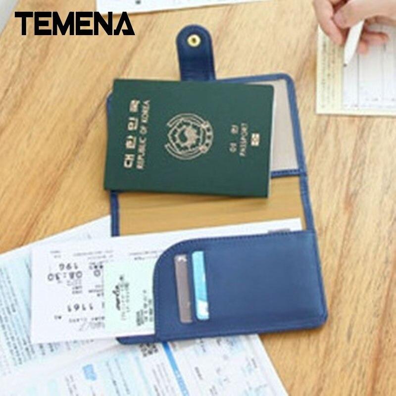 New Arrival Travel ID Document Holder Utility Pu Leather Passport Cover Bierta Del Pasaporte capa de
