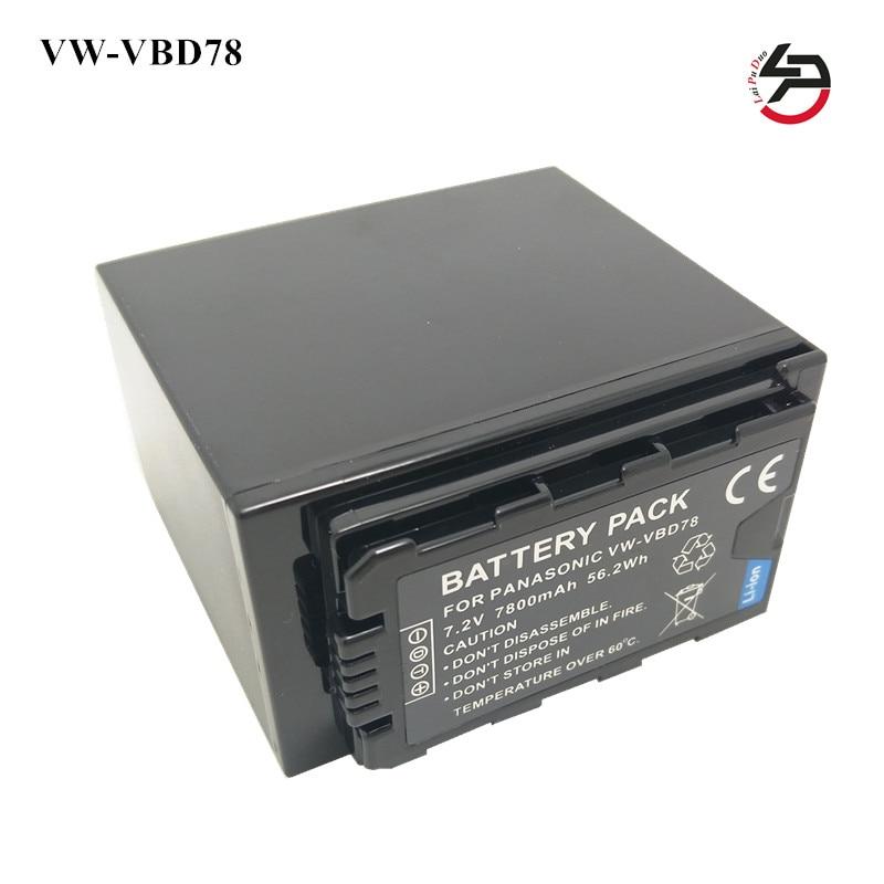 Pour Canon VW-VBD78 VW-VBD29 VW-VBD58 AJ-PX298 HC-MDH2 HC-X1000 AG-AC8EJ HC-MDH2GK marque nouveau Remplacement Caméra Batterie 7800 mah