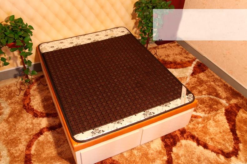 2016 Korea Heated Mattress Tourmaline Jade Stone Mattress Far Infrared Heated Bed Mattress 1.2*1.9M 2016 korea quality far infrared thermal heating tourmaline bed mattress made in china free shipping