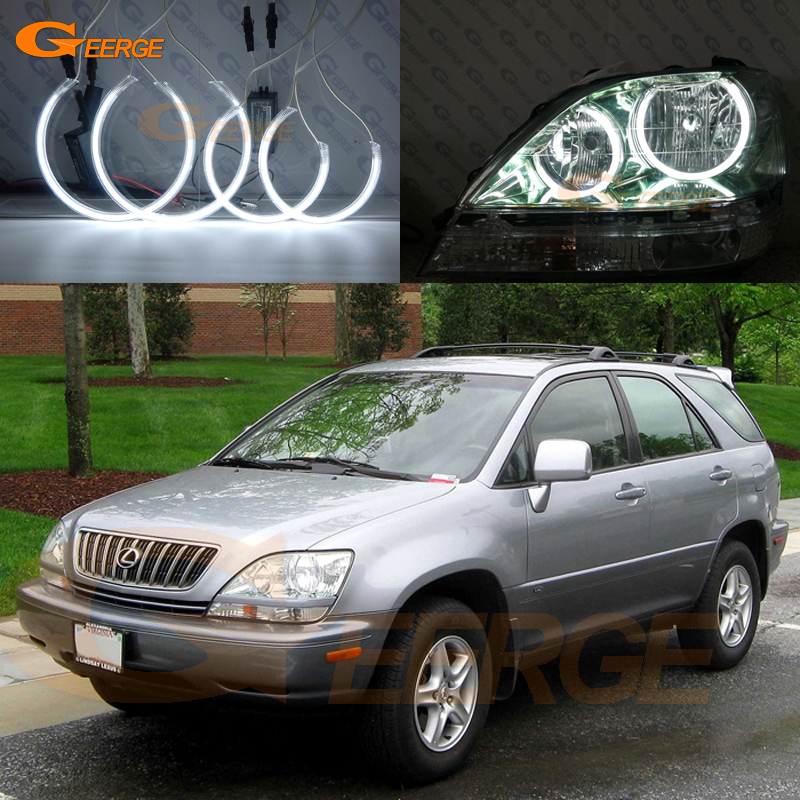 For Lexus RX300 RX 300 1999 2000 2001 2002 2003 headlight Excellent Ultra bright illumination CCFL angel eyes kit Halo Ring