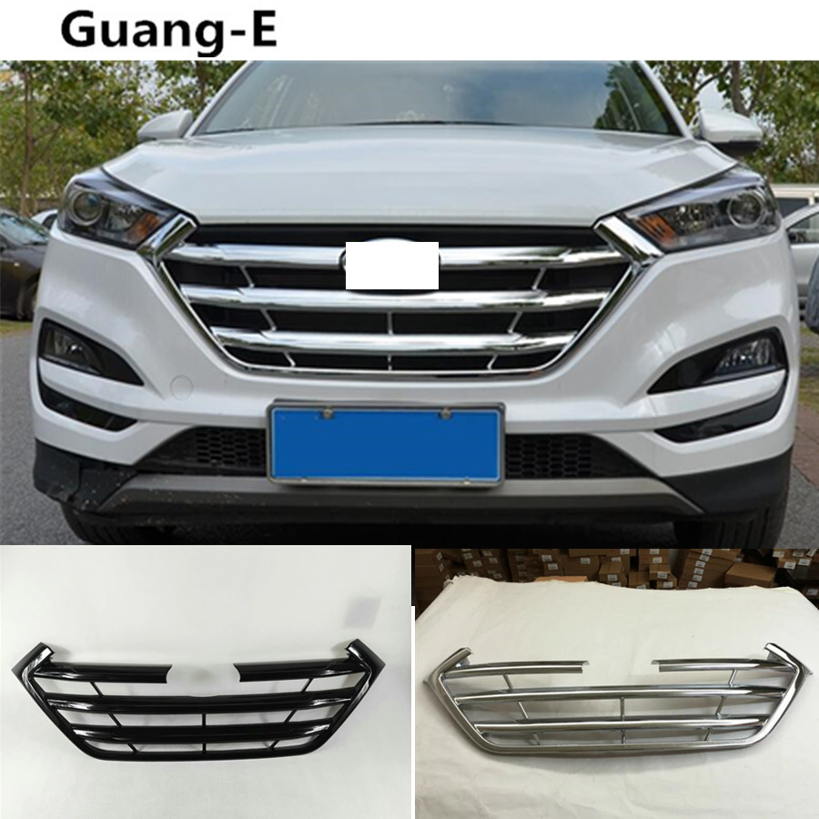 High Quality Car Styling Protection ABS Chrome Trim Front Up Racing Grid Grill Grille Around For