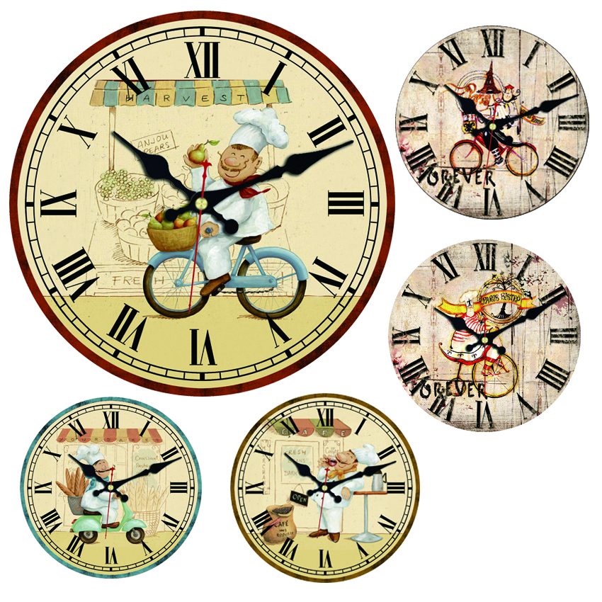 Cook Shopping Large Decorative Round Wall Clock Living Room Wall Decor Saat Fashion Silent Vintage Watch Wall For New Year Gift