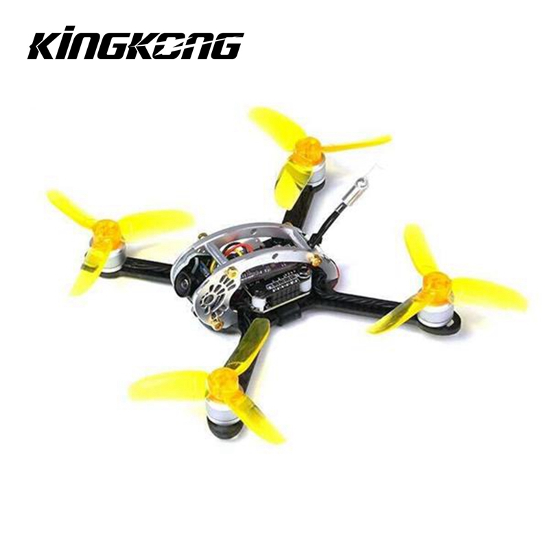 Kingkong MOSCA OVO 100 100mm Racing RC Zangão w/F3 10A 4in1 Blheli_S 25/100 mw 16CH 800TVL FPV BNF Quadcopter DIY PNP