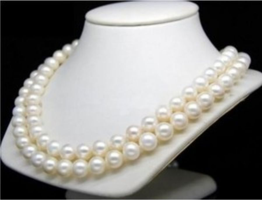 Round 35 AAAA 5-6 MM Natural White South Sea Pearl Necklace 14k/20 Gold ClaspRound 35 AAAA 5-6 MM Natural White South Sea Pearl Necklace 14k/20 Gold Clasp