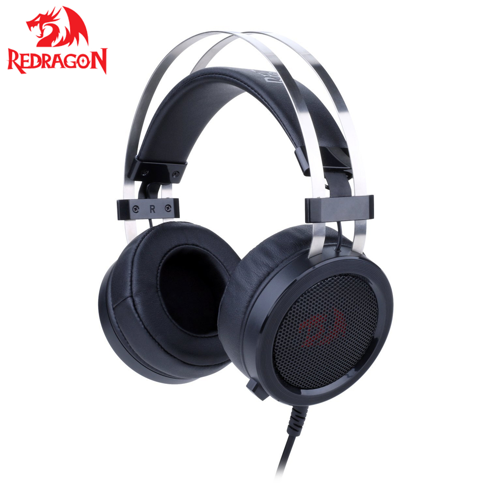 Redragon H901 Gaming Headset with Microphone PC Gaming Headphones Reduction Works Laptop Tablet PS4 Xbox One