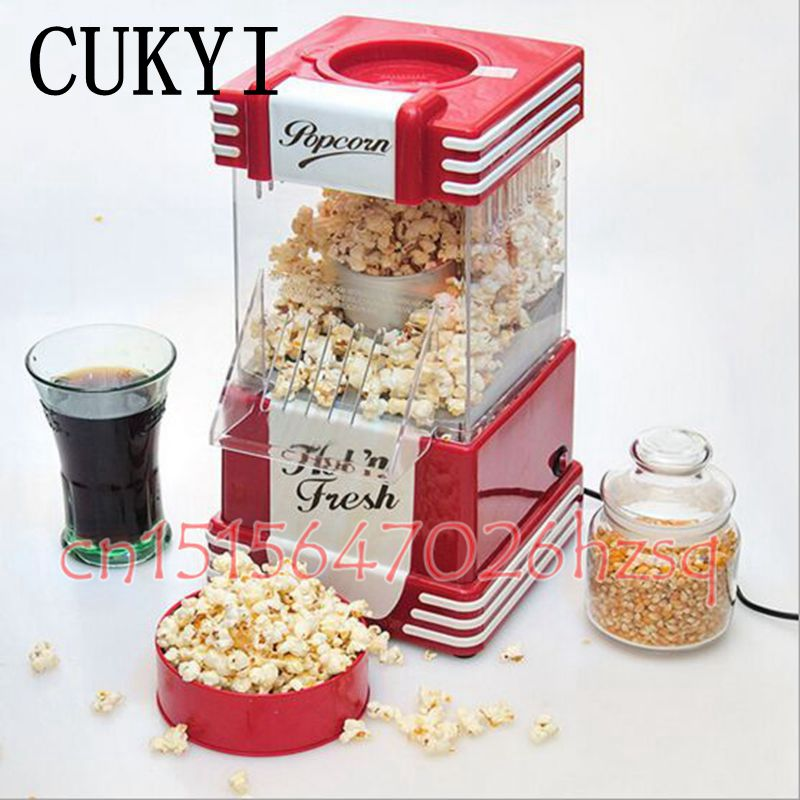 CUKYI Popcorn makers for party and family Reaationary Healthy without sugar and oil snack home red popcorn machine фен elchim 3900 healthy ionic red 03073 07