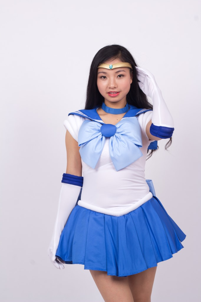 Halloween  Sailor Moon Ami Mizuno Sailor Mercury  Cosplay Costume custom made