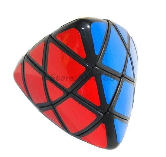 LanLan Triángulo Pirámide Cubo Mágico Velocidad Cubo mágico Puzzle de aprendizaje y educación juguetes