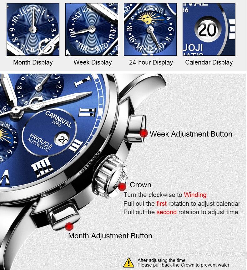 relógio luminoso à prova dwaterproof água relógio