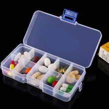Folding Medicine Plastic Weekly Tablet Pill Box Case Portable Candy Vitamin Container Storage Organizer Travel Accessories