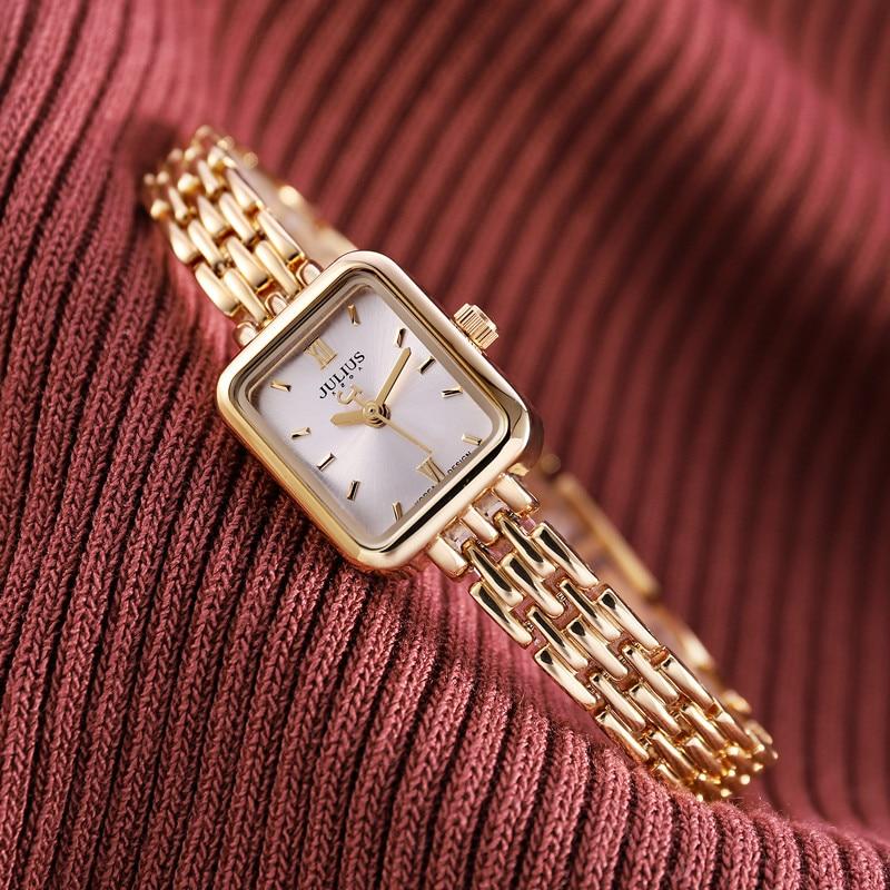 Top Julius Mini Lady Women's Watch Japan Quartz Elegant Fashion Hours Clock Dress Bracelet Chain School Girl's Birthday Gift Box