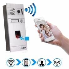 Huella digital de control de wifi inalámbrico de intercomunicación videoportero teléfono tmezon 720 p hd 1.0mp cámara ip al aire libre onvif de interfono