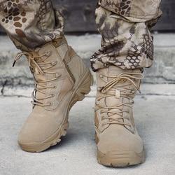 Outono Sapatos de Trabalho Dos Homens Botas Militares Do Exército Força Especial de Combate Tático Deserto Botas de Couro do Inverno do Tornozelo Botas de Neve Tamanho 39 -46