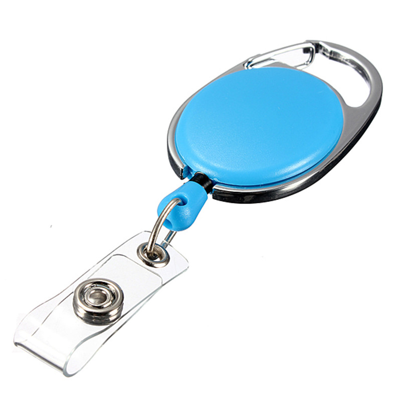 Board Game 1pc Retractable Pull Key Ring ID Badge Name Tag Rope Card Holder Recoil Reel Belt Clip Metal Housing Supplies