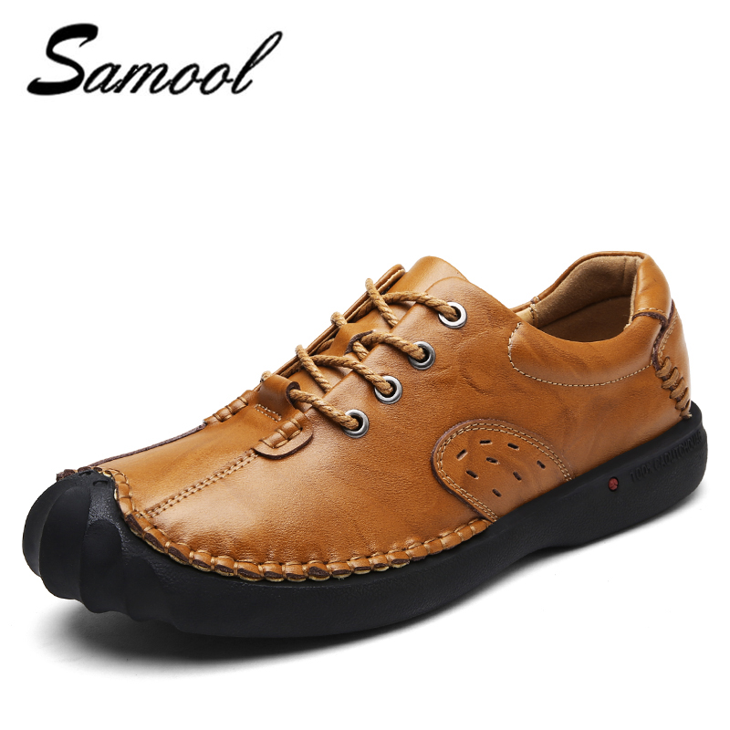 2018 spring Genuine Leather Loafers Men Casual Shoes lace up Luxury Fashion Male Handmade Moccasins Driving Footwear xxz5 spring autumn men loafers genuine leather casual men shoes fashion driving shoes moccasins flats gommino male footwear rmc 320