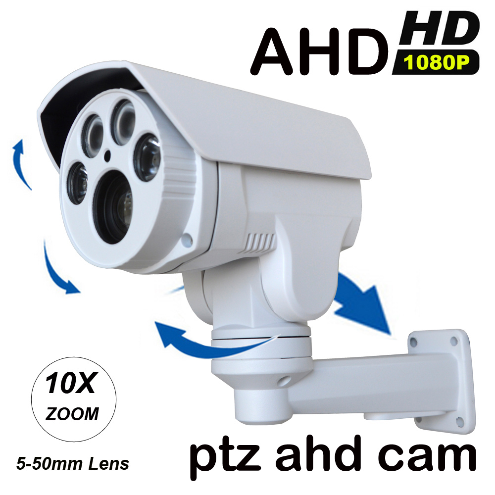 HD 960P/1080P AHD Camera PTZ 10X Pan /Tilt /Zoom 5-50mm Lens CCTV Security Surveillance Camera Night Vision cameras de seguranca hd 1080p pan
