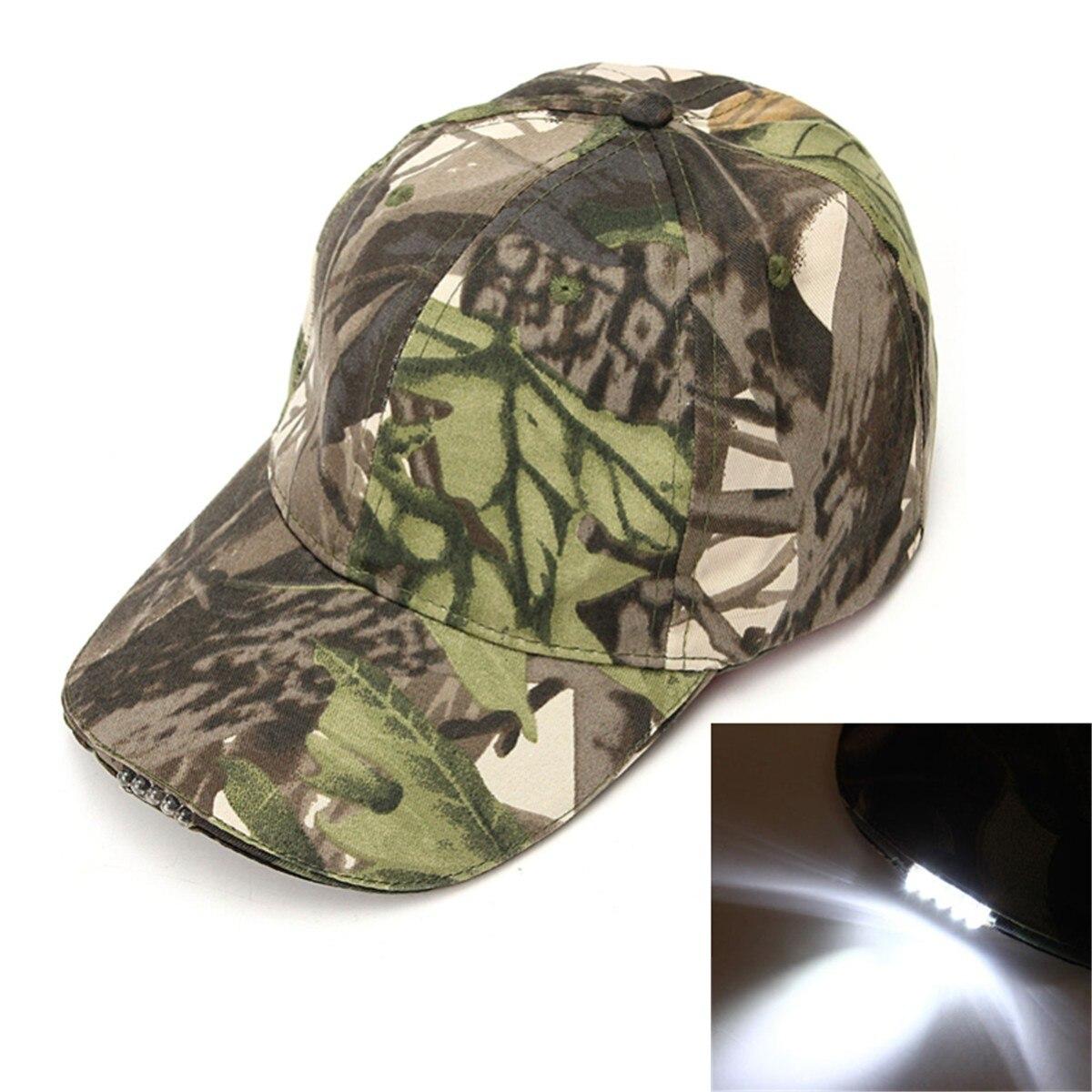 LED Headlamp Baseball Cap Light 5LED Torch Camouflage Hat With LED Head Light Flashlight For Bicycle Night Fishing Running недорго, оригинальная цена