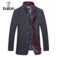 2018 Brand New Mens Wool Coat Witner Fashion Fur Collar Male Casual Pea Coat Men Long Jacket Overcoat Abrigo Hombre M 4XL