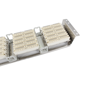 Rack Stainless steel 150 pairs telephone patch panel Krone voice module VDF Distribution Frame for 19-inch standard cabinets