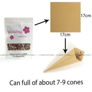 Image 5 - 100% natural wedding confetti ELOMAN dried rose flower petals confetti wedding and birthday party decoration biodegradable 1L
