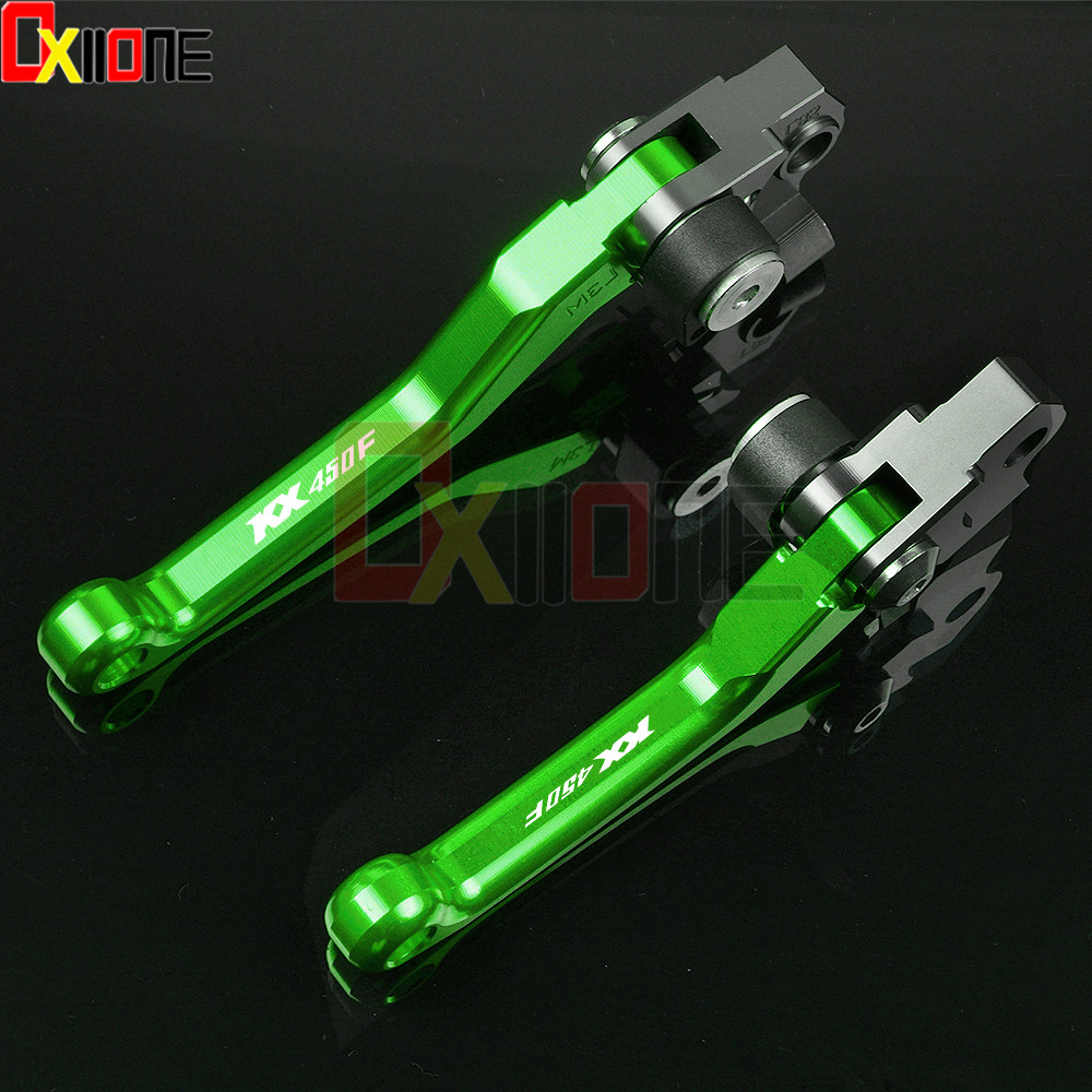 Motorbike Brakes Levers Motocross Accessories CNC Aluminum bike Pivot Brake Clutch Levers Handle For Kawasaki KX450F 2000 2012 in Levers Ropes Cables from Automobiles Motorcycles