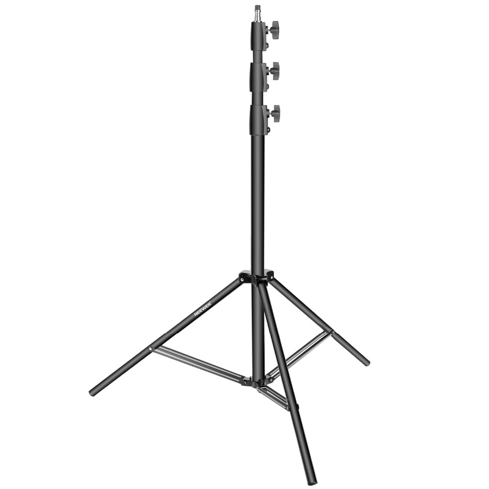 Neewer Aluminum Alloy Light 42-118 inches/100-300 cm Light Stand Heavy Duty Support Stand for Photography/Softbox/Reflector hpusn photography studio heavy duty 280cm light stand lightting kit for flash softbox umbrella support 3 direction mount