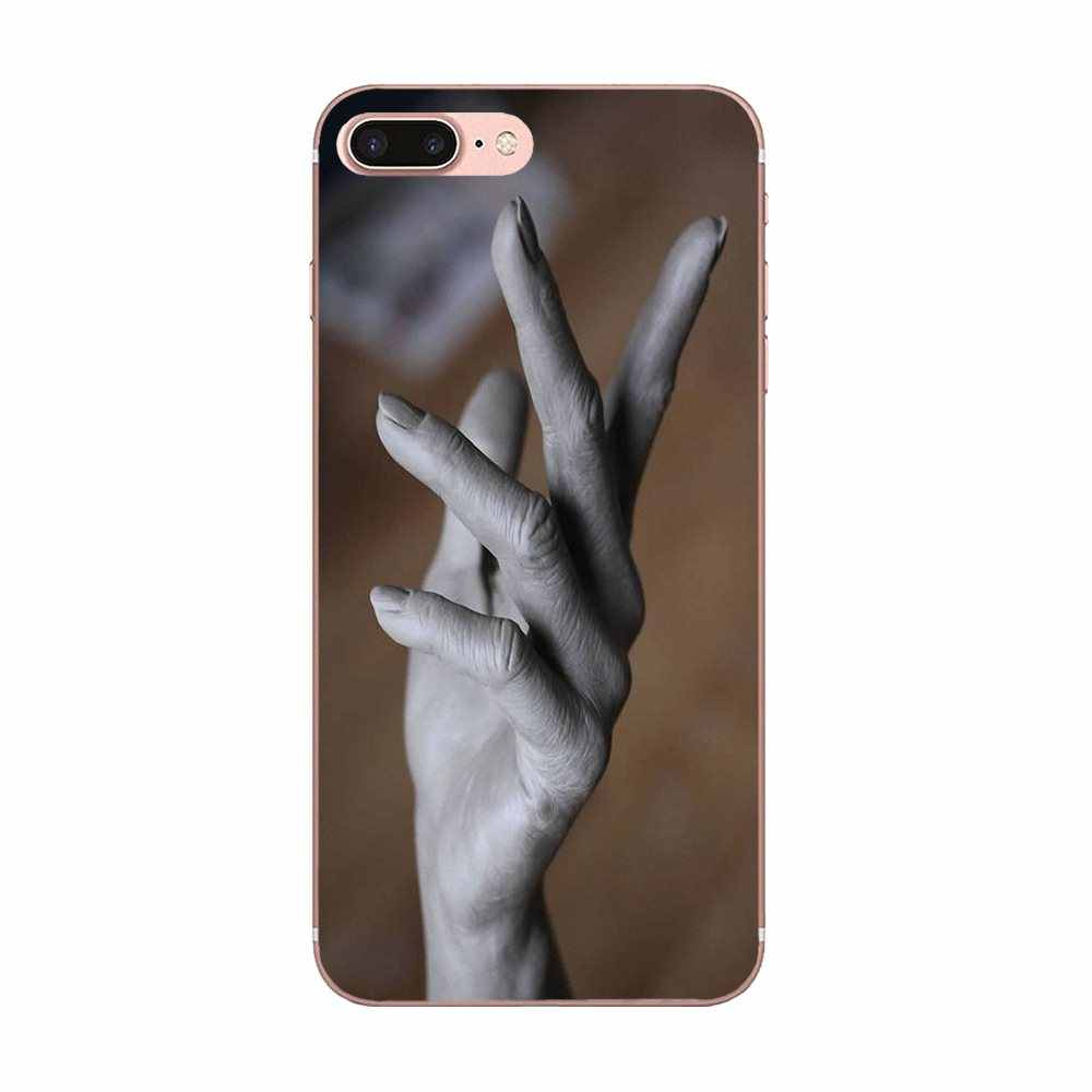 Mala mano en madera Linda funda de teléfono para Samsung Galaxy Note 5 8 9 S3 S4 S5 S6 S7 S8 s9 S10 mini Plus Lite