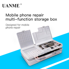 UANME Multi Functional Mobile Phone Repair Storage Box For IC Parts Smartphone Opening Tools Collector