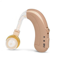 2PCS Hearing aids AXON C 109 Analogue Rechargeable BTE hearing sound voice amplifier O N H Adjustment hearing device