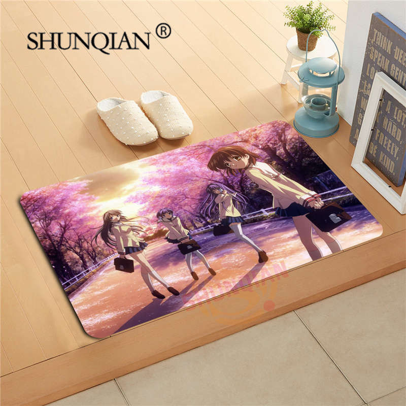 Clannad Anime Doormat Custom Your Mats Print slip-resistant Door Mat Floor Bedroom Living Room Rugs 40x60cm 50x80cm