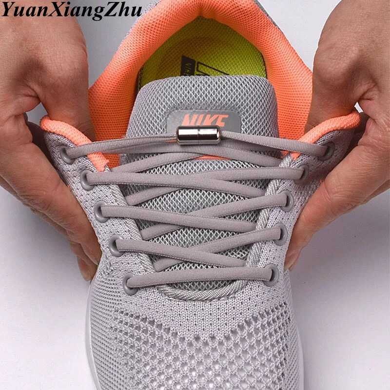 1Pair No Tie shoelace Elastic Locking Shoelaces Kids Adult Sneakers Quick Semicircle Shoelace Lazy Shoe Laces 19 Colors