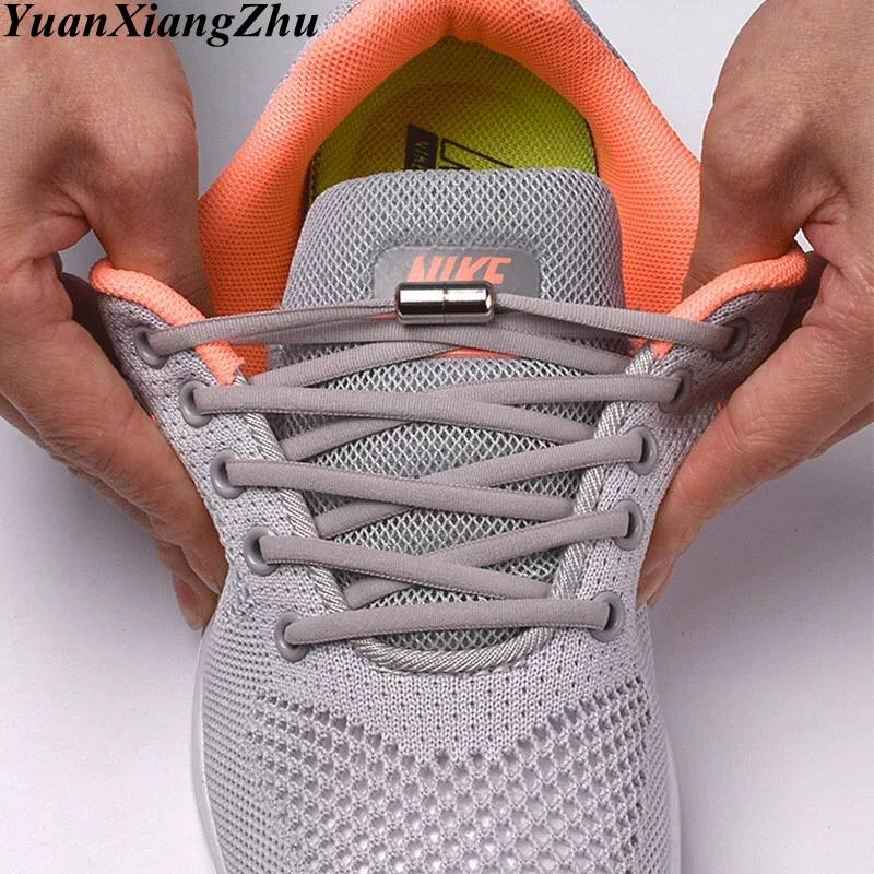1Pair No Tie shoelace Elastic Locking Shoelaces Kids Adult Sneakers Quick Semicircle Shoelace Lazy Shoe Laces 19 Colors1Pair No Tie shoelace Elastic Locking Shoelaces Kids Adult Sneakers Quick Semicircle Shoelace Lazy Shoe Laces 19 Colors