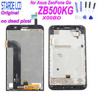 STARDE Original LCD for Asus Zenfone Go ZB500KG X00BD LCD Display Touch Screen Digitizer Assembly with Frame with Free Tools
