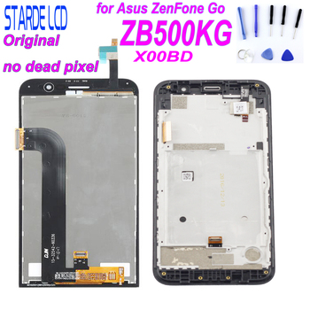 цена на STARDE Original LCD for Asus Zenfone Go ZB500KG X00BD LCD Display Touch Screen Digitizer Assembly with Frame with Free Tools