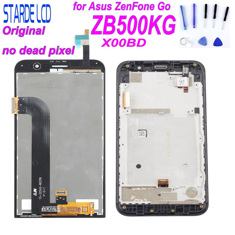 STARDE Original LCD para Asus Zenfone Ir ZB500KG X00BD LCD Screen Display Toque Digitador Assembléia com Quadro com Ferramentas Gratuitas
