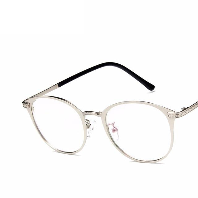 5f5da49440 2018 new Square Glasses Frame Women Men Metal Eyeglasses Optical Frames  Eyewear Clear Lens Gold Silver Spectacles