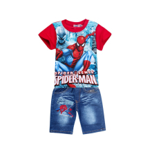 Spider-Man Shirt + Denim Shorts Set