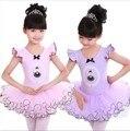 new Children Dance tutu Dress Girl Ballet Dress Fitness Clothing Performance Wear Leotard Costume Girl Summer Skirt pink color
