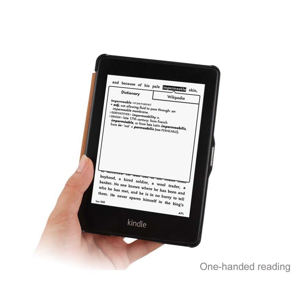 Para kindle paperwhite funda de cuero elegante cubierta de libro de - Accesorios para tablets - foto 4