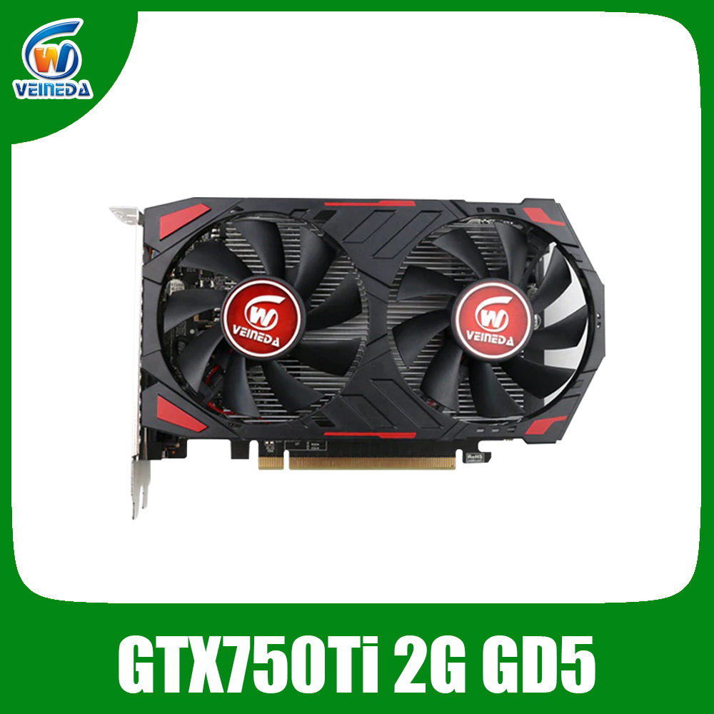 Placa Gráfica GPU gtx 750 ti Originais Veineda 2GB 128Bit GDDR5 Desktop PC de Vídeo jogos de Cartas para nVIDIA Geforce